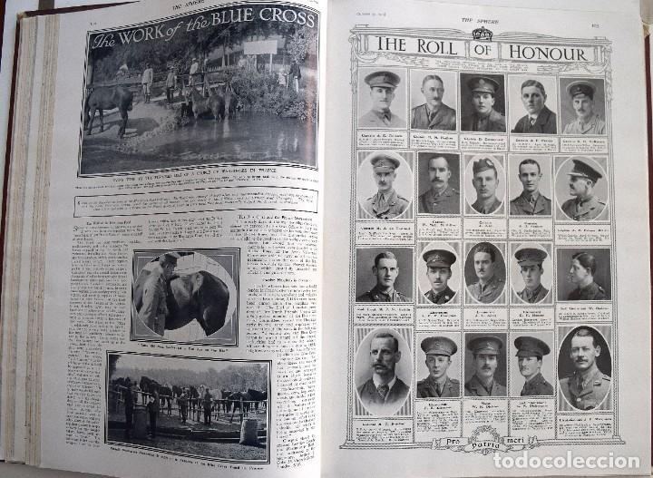 Militaria: THE SPHERE - TOMO CON LOS MESES DE OCTUBRE, NOVIEMBRE Y DICIEMBRE 1915 + UN ESPECIAL ESPECIAL - Foto 15 - 205174586