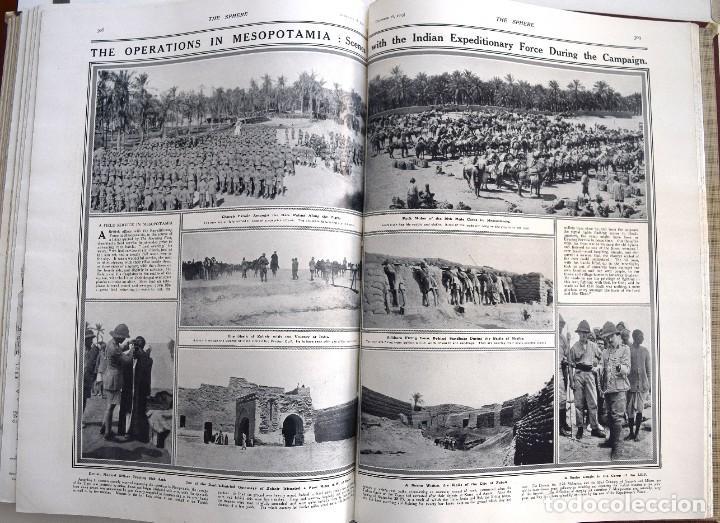 Militaria: THE SPHERE - TOMO CON LOS MESES DE OCTUBRE, NOVIEMBRE Y DICIEMBRE 1915 + UN ESPECIAL ESPECIAL - Foto 19 - 205174586