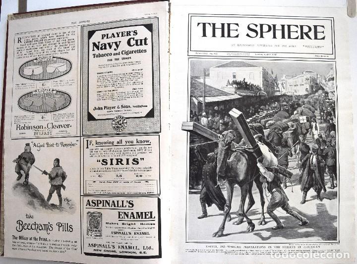 Militaria: THE SPHERE - TOMO CON LOS MESES DE ABRIL, MAYO Y JUNIO 1915 PRIMERA GUERRA MUNDIAL - Foto 5 - 205175922