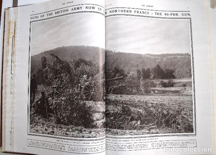 Militaria: THE SPHERE - TOMO CON LOS MESES DE ABRIL, MAYO Y JUNIO 1915 PRIMERA GUERRA MUNDIAL - Foto 8 - 205175922