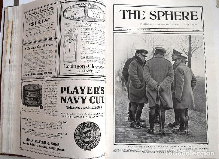 Militaria: THE SPHERE - TOMO CON LOS MESES DE ABRIL, MAYO Y JUNIO 1915 PRIMERA GUERRA MUNDIAL - Foto 11 - 205175922
