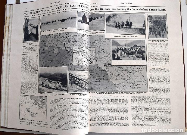 Militaria: THE SPHERE - TOMO CON LOS MESES DE ABRIL, MAYO Y JUNIO 1915 PRIMERA GUERRA MUNDIAL - Foto 12 - 205175922