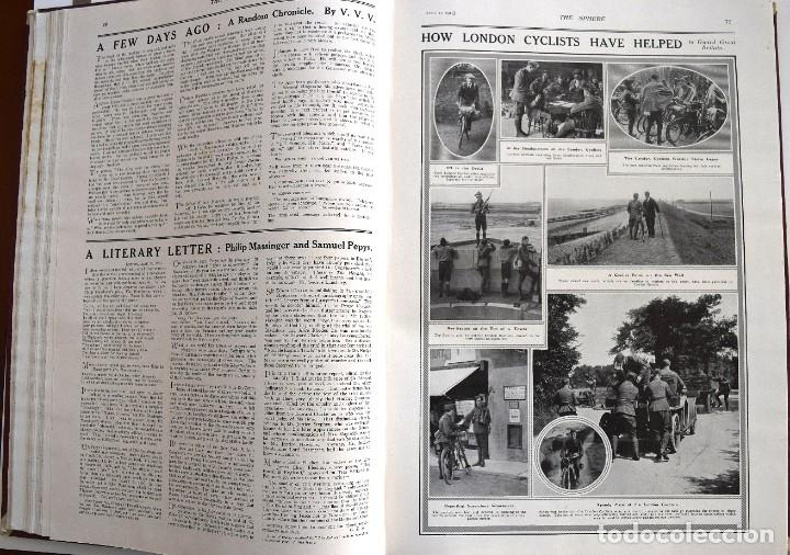 Militaria: THE SPHERE - TOMO CON LOS MESES DE ABRIL, MAYO Y JUNIO 1915 PRIMERA GUERRA MUNDIAL - Foto 13 - 205175922