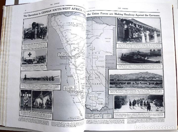 Militaria: THE SPHERE - TOMO CON LOS MESES DE ABRIL, MAYO Y JUNIO 1915 PRIMERA GUERRA MUNDIAL - Foto 14 - 205175922