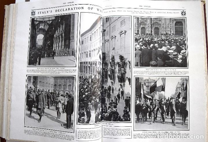 Militaria: THE SPHERE - TOMO CON LOS MESES DE ABRIL, MAYO Y JUNIO 1915 PRIMERA GUERRA MUNDIAL - Foto 17 - 205175922