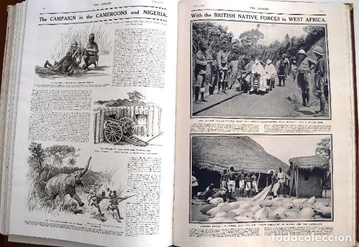 Militaria: THE SPHERE - TOMO CON LOS MESES DE ABRIL, MAYO Y JUNIO 1915 PRIMERA GUERRA MUNDIAL - Foto 18 - 205175922