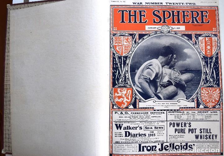 Militaria: THE SPHERE - TOMO CON LOS MESES DE ENERO, FEBRERO Y MARZO 1915 PRIMERA GUERRA MUNDIAL - Foto 4 - 205176848