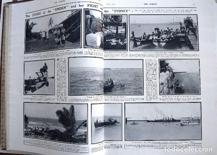 Militaria: THE SPHERE - TOMO CON LOS MESES DE ENERO, FEBRERO Y MARZO 1915 PRIMERA GUERRA MUNDIAL - Foto 6 - 205176848