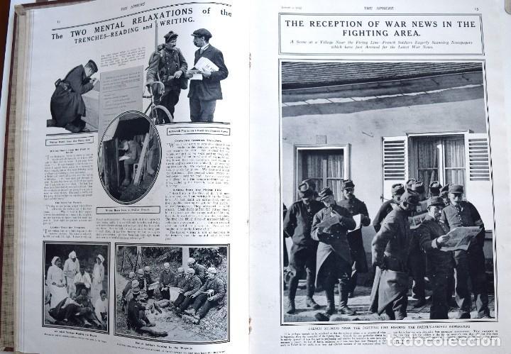 Militaria: THE SPHERE - TOMO CON LOS MESES DE ENERO, FEBRERO Y MARZO 1915 PRIMERA GUERRA MUNDIAL - Foto 7 - 205176848