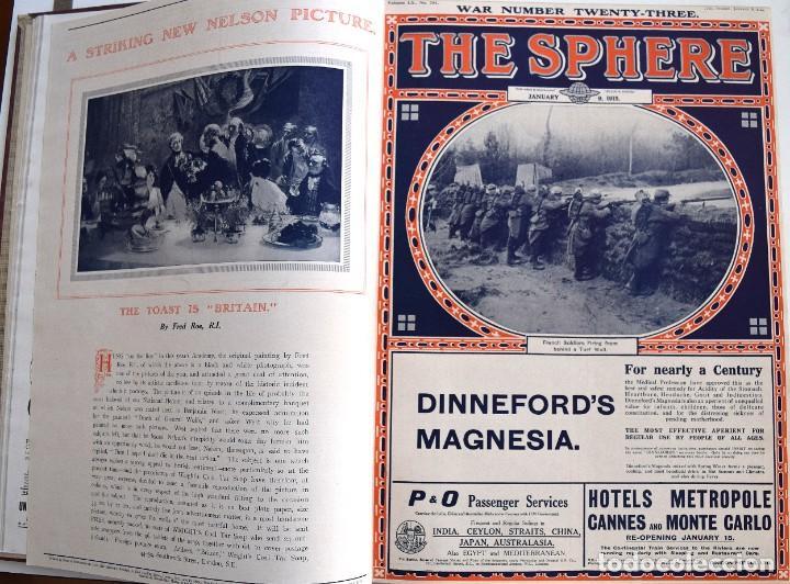 Militaria: THE SPHERE - TOMO CON LOS MESES DE ENERO, FEBRERO Y MARZO 1915 PRIMERA GUERRA MUNDIAL - Foto 9 - 205176848