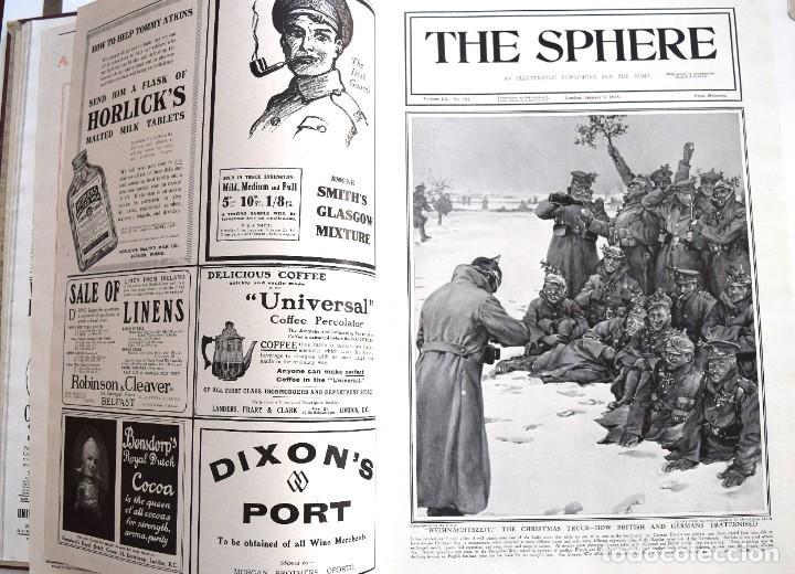 Militaria: THE SPHERE - TOMO CON LOS MESES DE ENERO, FEBRERO Y MARZO 1915 PRIMERA GUERRA MUNDIAL - Foto 10 - 205176848