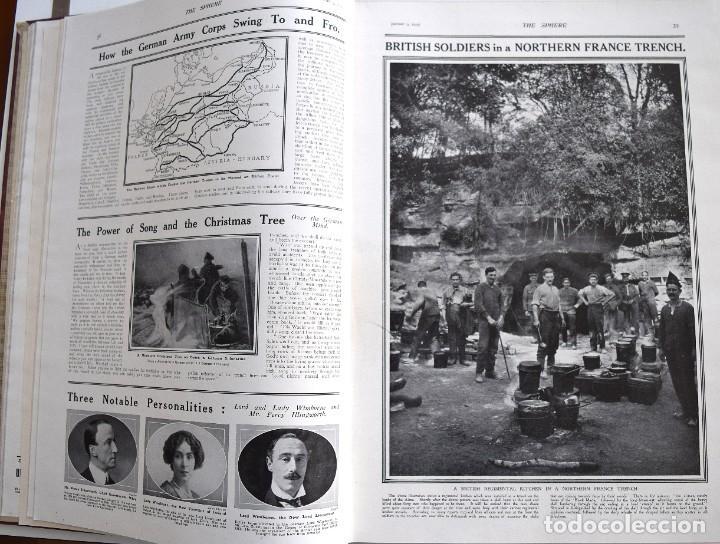 Militaria: THE SPHERE - TOMO CON LOS MESES DE ENERO, FEBRERO Y MARZO 1915 PRIMERA GUERRA MUNDIAL - Foto 11 - 205176848