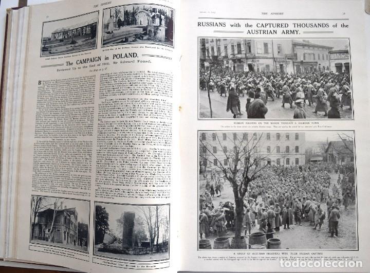 Militaria: THE SPHERE - TOMO CON LOS MESES DE ENERO, FEBRERO Y MARZO 1915 PRIMERA GUERRA MUNDIAL - Foto 13 - 205176848