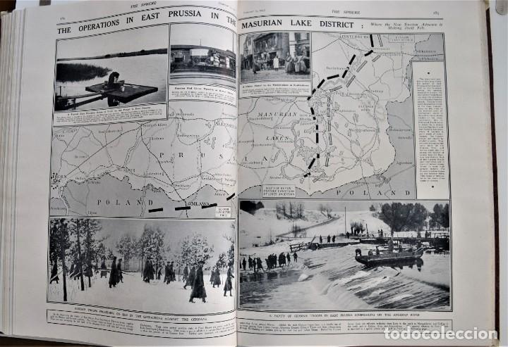 Militaria: THE SPHERE - TOMO CON LOS MESES DE ENERO, FEBRERO Y MARZO 1915 PRIMERA GUERRA MUNDIAL - Foto 20 - 205176848