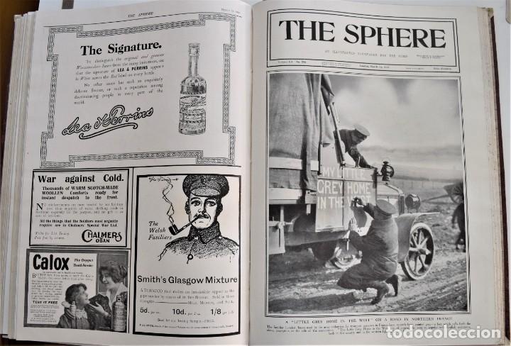Militaria: THE SPHERE - TOMO CON LOS MESES DE ENERO, FEBRERO Y MARZO 1915 PRIMERA GUERRA MUNDIAL - Foto 23 - 205176848