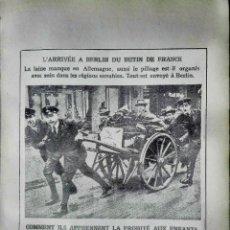 Militaria: 4 IMAGENES, LA GUERRA DE PROPAGANDA DURANTE LA WW1. Lote 210539093