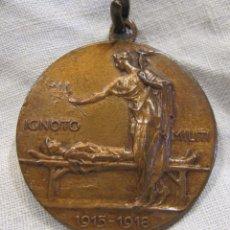 Militaria: MEDALLA IGNOTO MILITI 1915 – 1918. 4 NOVIEMBRE 1921. LUDOVICO POGLIAGHI. DIÁM. 3 CM. Lote 213575670