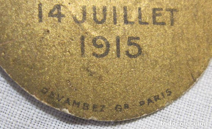 Militaria: INSIGNIA PRIMERA GUERRA MUNDIAL. JOURNÉE DE LA VILLE DE PARIS. 14 JUILLET 1915. DEVAMBEZ PARIS - Foto 2 - 213653858