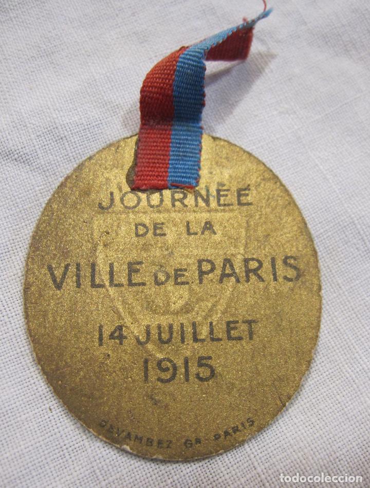 INSIGNIA PRIMERA GUERRA MUNDIAL. JOURNÉE DE LA VILLE DE PARIS. 14 JUILLET 1915. DEVAMBEZ PARIS (Militar - I Guerra Mundial)