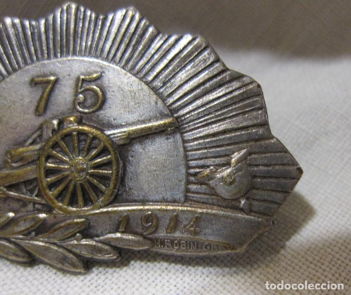 Militaria: MEDALLA AGUJA CAÑON 75 (CANON 75). PRIMERA GUERRA MUNDIAL. FIRMADA H. ROBIN GRAY. 1914-. 2 X 3,5 CM - Foto 4 - 213796608