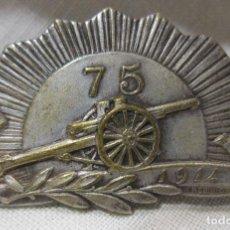 Militaria: MEDALLA AGUJA CAÑON 75 (CANON 75). PRIMERA GUERRA MUNDIAL. FIRMADA H. ROBIN GRAY. 1914-. 2 X 3,5 CM. Lote 213796608