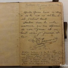 Militaria: I GUERRA MUNDIAL, DIARIO DE UN VOLUNTARIO CATALÁN PARTICIPANDO EN LA GUERRA EN FRANCIA, 1916. Lote 214719627