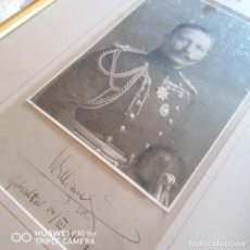 Militaria: FOTOGRAFÍA CON AUTOGRAFO DEL EMPERADOR GUILLERMO DE PRUSIA. Lote 215498376
