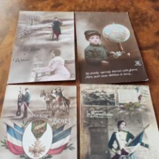 Militaria: LOTE POSTALES I GUERRA MUNDIAL PATRIOTAS BANDO FRANCES 1914/18. Lote 217541411