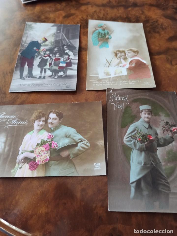LOTE POSTAL I GUERRA MUNDIAL PATRIOTAS BANDO FRANCES 1914/18 (Militar - I Guerra Mundial)