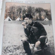 Militaria: ARTILLERO BELGA USANDO TELEFONO DE CAMPAÑA . GUERRA MUNDIAL . 1914 . 35 X 28 CM. Lote 218295455