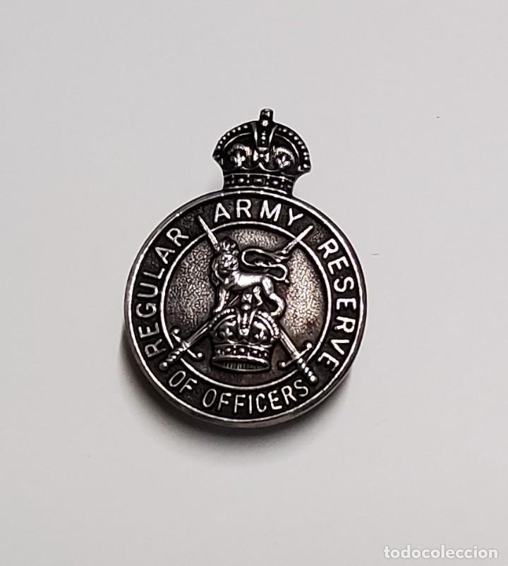 DISTINTIVO PLATA.OFICIALES EN LA RESERVA EJERCITO REGULAR DE REINO UNIDO.1ª GUERRA MUNDIAL (Militar - I Guerra Mundial)