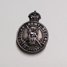 Militaria: DISTINTIVO PLATA.OFICIALES EN LA RESERVA EJERCITO REGULAR DE REINO UNIDO.1ª GUERRA MUNDIAL. Lote 221690305