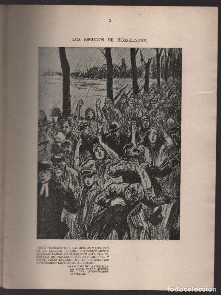 Militaria: CARTONES DE RAEMAEKERS, LAS ATRCIDADES ALEMANAS.- AÑO 1916, 39 PG. VER FOTOS - Foto 2 - 221760103
