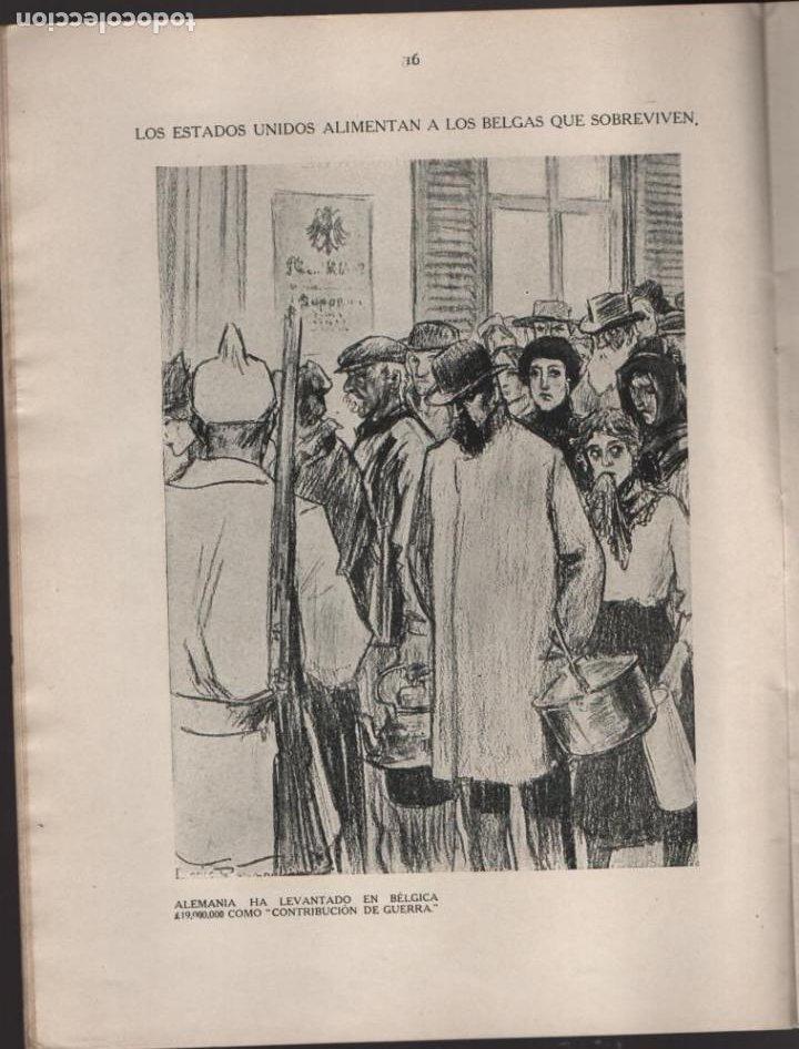 Militaria: CARTONES DE RAEMAEKERS, LAS ATRCIDADES ALEMANAS.- AÑO 1916, 39 PG. VER FOTOS - Foto 5 - 221760103
