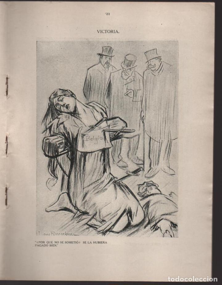 Militaria: CARTONES DE RAEMAEKERS, LAS ATRCIDADES ALEMANAS.- AÑO 1916, 39 PG. VER FOTOS - Foto 6 - 221760103