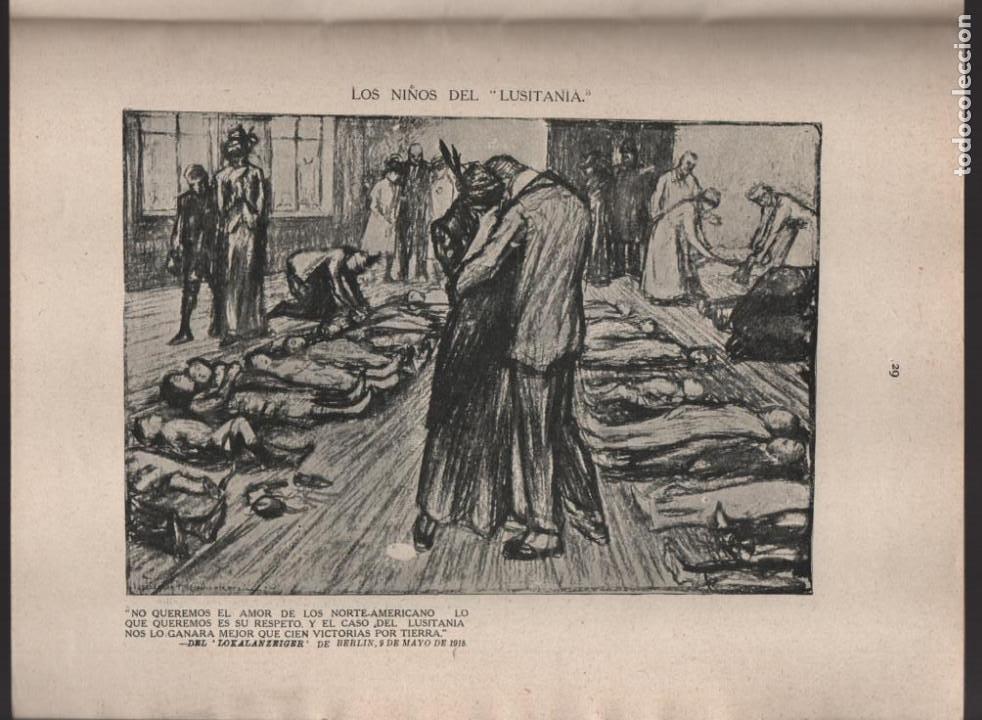 Militaria: CARTONES DE RAEMAEKERS, LAS ATRCIDADES ALEMANAS.- AÑO 1916, 39 PG. VER FOTOS - Foto 8 - 221760103