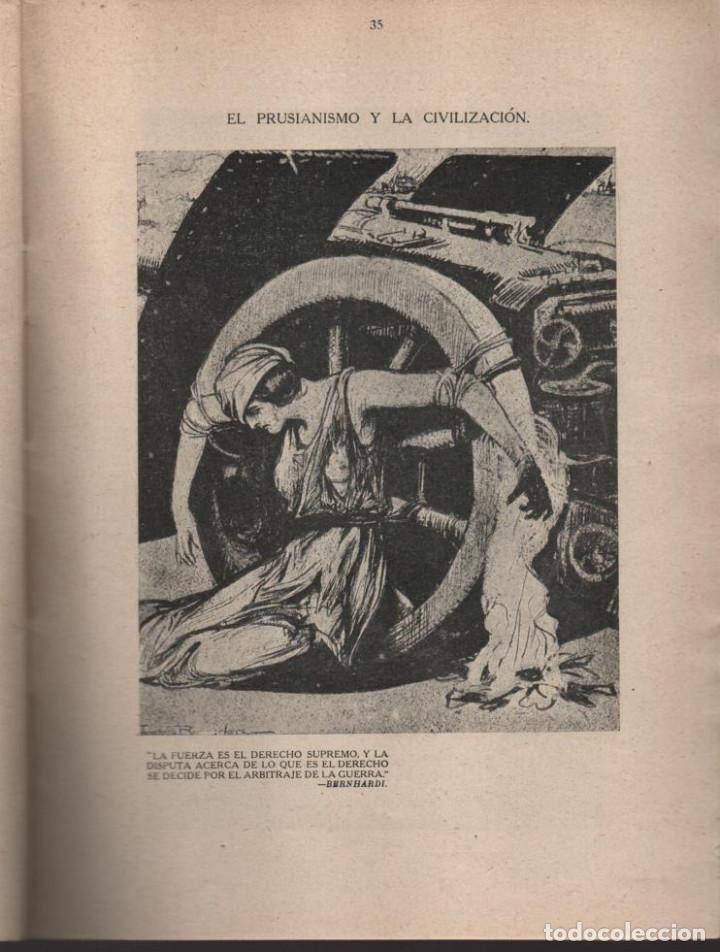 Militaria: CARTONES DE RAEMAEKERS, LAS ATRCIDADES ALEMANAS.- AÑO 1916, 39 PG. VER FOTOS - Foto 9 - 221760103