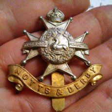 Militaria: INSIGNIA BADGE GORRA EJERCITO WWI CAP BADGE REGIMENT SHERWOOD FORESTERS , NOTTS&DERBY , FORESTALES. Lote 224921800