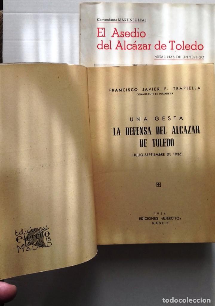 Militaria: LA DEFENSA DEL ALCAZAR DE TOLEDO EL ASEDIO DEL ALCAZAR DE TOLEDO DIARIO DE OPERACIONES Y ... - Foto 4 - 230290725