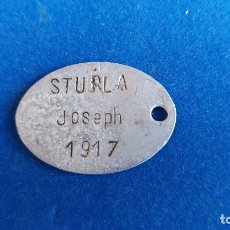 Militaria: T-477.- CHAPA DE IDENTIFICACION.- PRIMERA GUERRA MUNDIAL 1917.- ALGER 1908, VER FOTOS. Lote 235311100