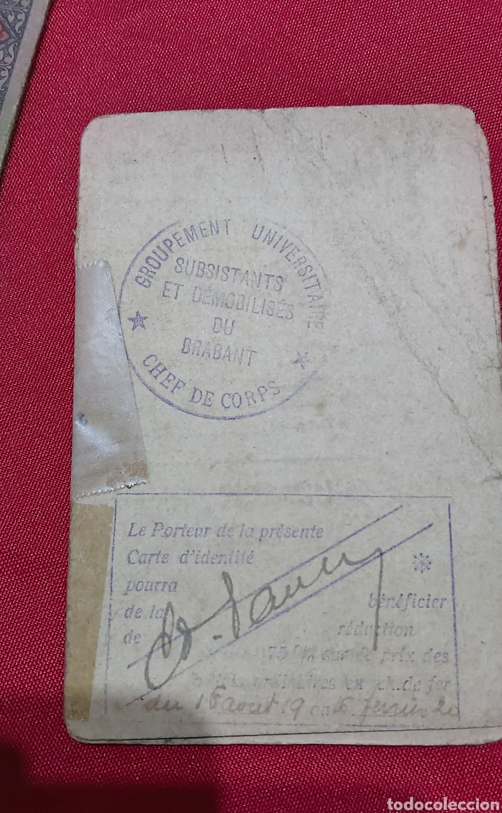 Militaria: LOTE DE PERTENENCIAS COMBATIENTE DE LA PRIMERA GUERRA MUNDIAL BELGA - Foto 3 - 241802350