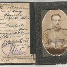 Militaria: ANTIGUO CARNET DE CONDUCIR MILITAR DANES FOTO OFICIAL EJERCITO 1919 1ª GUERRA MUNDIAL FORERBEVIS. Lote 255961125
