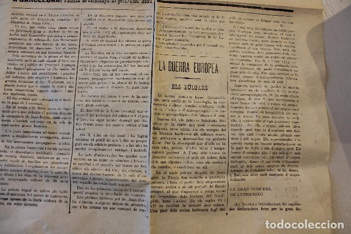 Militaria: BAGES CIUTAT, DIARI DE MANRESA, 1915 - Foto 4 - 263141920