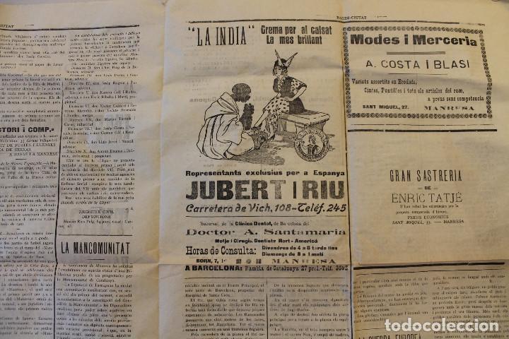 Militaria: BAGES CIUTAT, DIARI DE MANRESA, 1915 - Foto 5 - 263141920