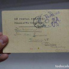 Militaria: ANTIGUA POSTAL DE PRISIONERO ALEMAN DE 1915 EN CAMPO CONCENTRACION INGLES DE INDIA AHMEDNAGAR.. Lote 266554023