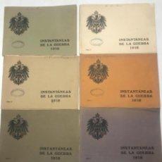 Militaria: INSTANTANEAS DE 1ª GUERRA MUNDIAL DE 1918 CON 32 FOTOS POR CUADERNO SON 6 CUADERNOS. Lote 266982389