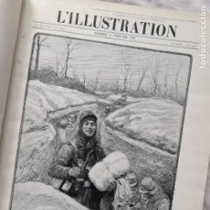 Militaria: L'ILLUSTRATION. PRIMERA GUERRA MUNDIAL. TOMO X ENCUADERNADO, Nº3748-3760, 1915. Lote 267370284