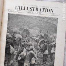 Militaria: L'ILLUSTRATION. PRIMERA GUERRA MUNDIAL. TOMO XIV ENCUADERNADO, Nº3800-3808, 1916. Lote 267379219