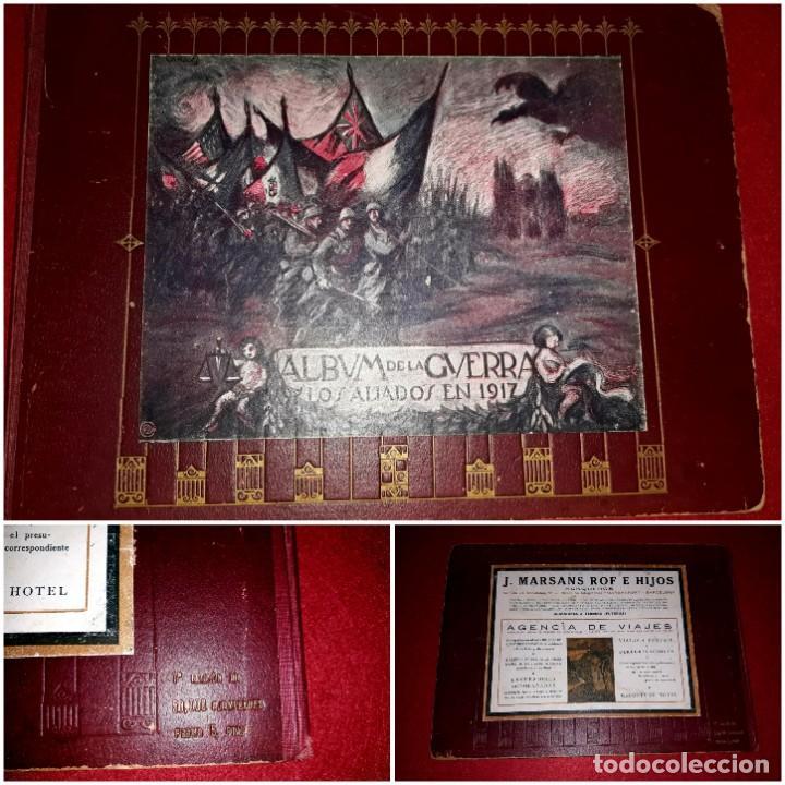 ALBUM DE LA GUERRA ( LOS ALIADOS EN 1917 ) A. ARTÍS 1ª EDICIÓN (Militar - I Guerra Mundial)
