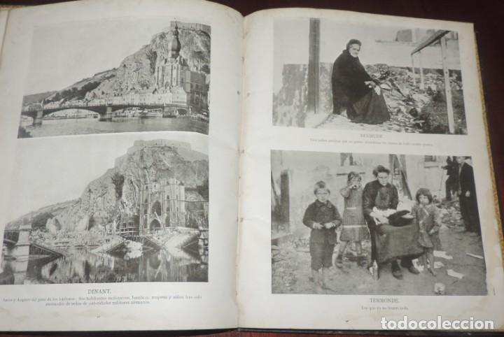 Militaria: SIGUIENDO LAS HUELLAS DEL EJÉRCITO ALEMÁN. THE DAILY CHRONICLE, LONDRES 1915. TAPA DURA, Ilustrado c - Foto 6 - 273625213